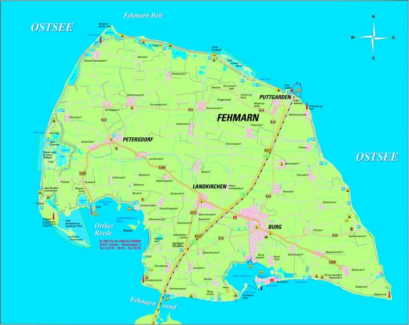 Fehmarn Karte